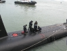 KD Tunku Abdul Rahman crew prepare their submarine for a Royal visit
