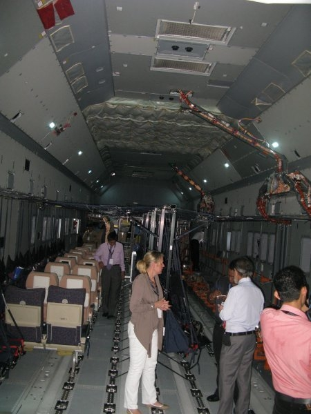 The cargo compartment of the A400M