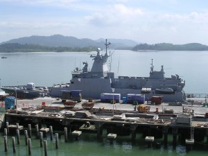 KD Kedah while in was still undergoing fitting out in 2002.