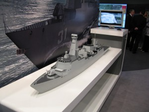A mock-up of the Lekiu batch 2 frigate. The project was cancelled in 2008 as the result of the economic crisis.
