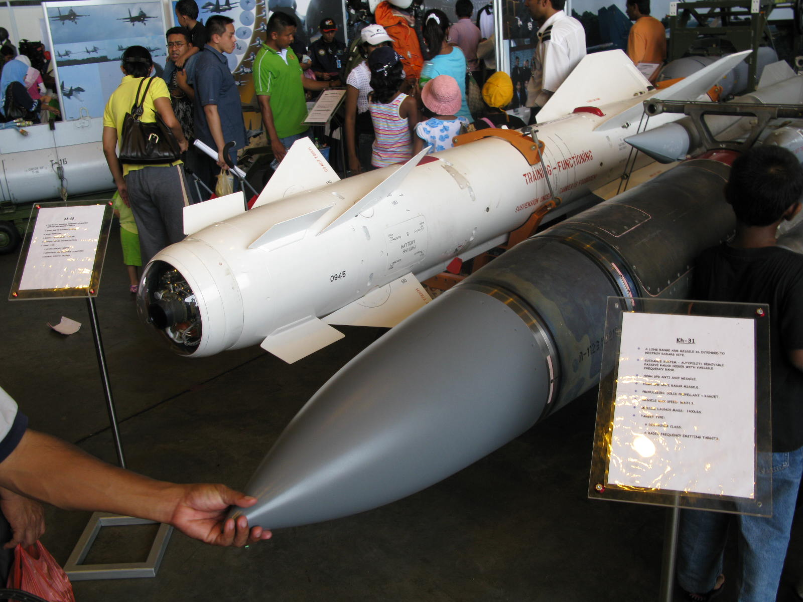 The KH-31A missile shown during RMAF Open Day back in 2008. The other missile is the KH-29