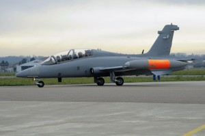 One of the MB-339CM getting ready for a test flight in 2008 prior to delivery to RMAF.