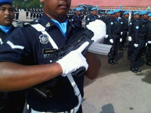 The Bushmaster Carbine on parade back in 2010.