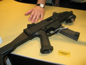 The CZ SCORPION EVO 3 A1 submachine gun in cal. 9x19.
