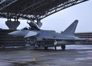 RAF Typhoon at Butterworth airbase in 2011.