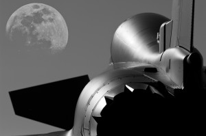 Typhoon and the moon