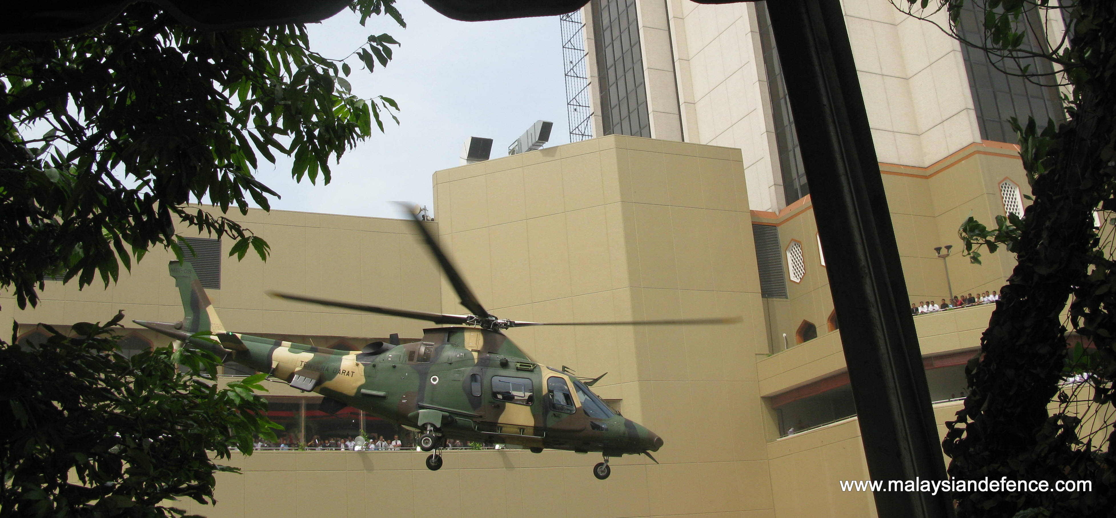 Army's A109 LOH taking part in the hostage rescue demonstration conducted by the GGK in conjunction of DSA 2012