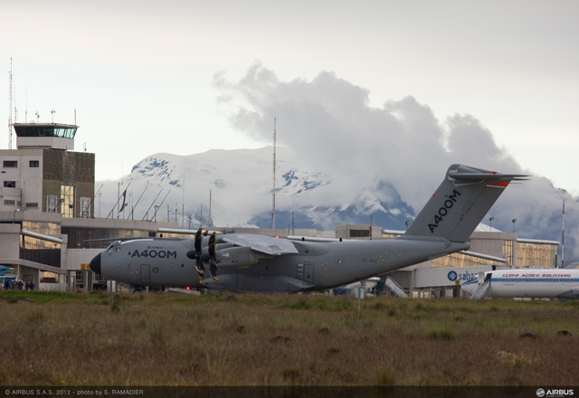 The Airbus Military A400M new generation airlifter recently visited La Paz, Bolivia.