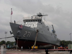 PCU Gagah Samudera, prior to her launch. in late 2012.
