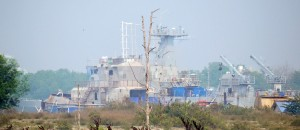 Teguh Samudera seen from a distance outside the yard at Sijangkang, Banting. Picture taken April, 2014.