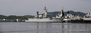 KD Kasturi at Lumut in Jan, 2014, just before her re-commissioning after undergoing a lengthy SLEP at BNS. Malaysian Defence photo.