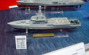 A model of the LMV at Imdex 2015.