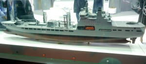 A model of a Logistics Support Vessel from DSME.