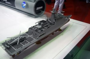 A model of the missile corvettes proposed by DSME for RMN.