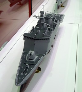 Another angle of the DSME missile corvette.