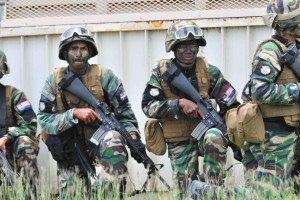 Malaysian soldiers taking part in RIMPAC 2014 exercise.
