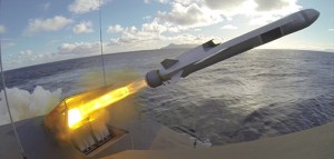 Live firing with NSM missile from corvette HNoMS Gnist outside Andøya in Northern-Norway