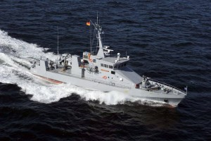 Colombian Coast Guard 40 metre patrol boat which will be the basis of the NGPC.
