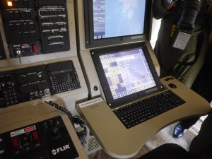 Thales AMASCOS workstation on board the CN235 MPA displayed at LIMA 2015.