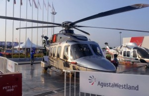One of Weststar AW189 displayed at LIMA 2015.