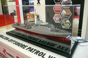 A model of the Amazon class at the Radimax booth