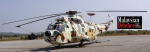 Tentera Darat new helicopter, Nuri M23-01 resplendent in its digital camo.