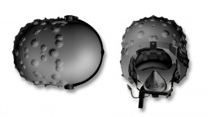 Typhoon helmet top and side view. BAE Systems