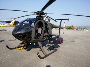 The MD530G that was displayed at LIMA 2015. Note the weapons fit.