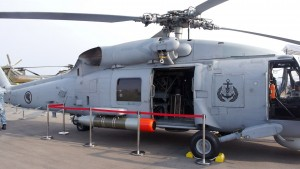 RSAF Sikorsky S-70B Seahawk helicopter. Note the drum for the dipping sonar