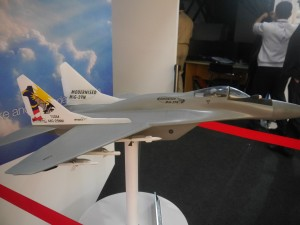 A model at ATSC stand featuring the proposed Fuclrum modernisation. Among others it will be fitted with the Flanker's avionics.
