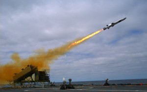 A Kongsberg Naval Strike Missile (NSM) is launched from the littoral combat ship USS Coronado (LCS 4) during missile testing operations off the coast of Southern California. The missile scored a direct hit on a mobile ship target. (U.S. Navy photo by Mass Communication Specialist 2nd Class Zachary D. Bell/Released)