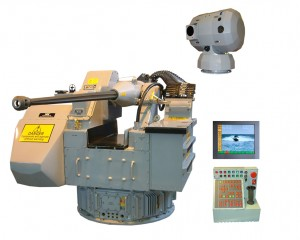 The latest generation MSI DS30 30mm gun complete with EO sight and remote operator console.