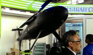 Schiebel Camcopter on display at LIMA 2015.