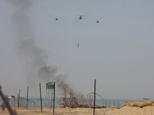 A flypast after the rescue was conducted.