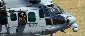 A FN MAG pintle mounted on  an Airbus Helicopter H225M Cougar.