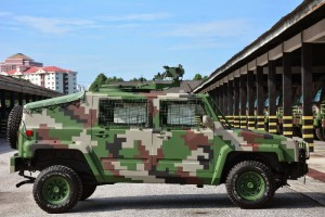 A side view of the GK-M1 Weapon Platform
