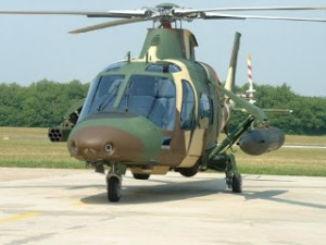 An AW109 LOH of the PUTD. This rocket and gun pods version was shown some years back.