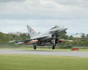 Typhoon taking off with the latest P2E software, recently, BAE Systems