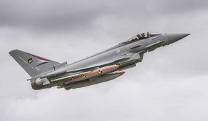 Typhoon with P2E soiftware taking off for a flight test recently. BAE Systems