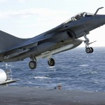 A French Navy Rafale with an Exocet