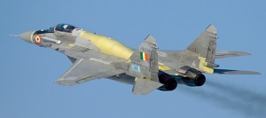 IAF MIG-29UPG. Note the distinctive dorsal spine where extra fuel is stored. RAC-MIG.