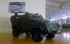Deftech MRAP as seen at the Deftech plant in Pekan late 2014. Malaysian Defence