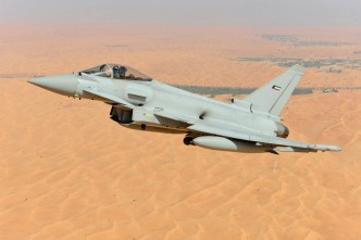 A CGI image of Typhoon with Kuwaiti Air Force colours. Eurofighter.