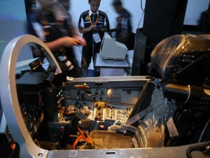 The Mig-29 simulator that was developed in-house by RMAF. This is the basic cockpit procedural trainer.