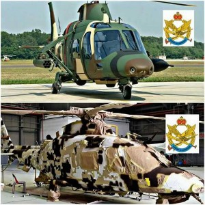 The PUTD AW109 undergoing transformation into a desert bird. Courtesy of Air Times.