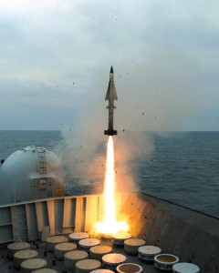A Sea Wolf missile being launched from a Royal Navy Type 23 frigate. The RN is retiring the Sea Wolf in favour of the Sea Ceptor.