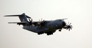 RMAF A400M M54-01 landing at Subang airport after performing a flypast on 2015 Merdeka Day