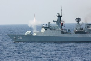 KD Lekiu launching a Sea Wolf SAM in an exercise last year. TLDM picture.