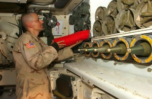 The photo is a magazine compartment of a Paladin but it will be very similar to the A5 version of the M109. US Army photo