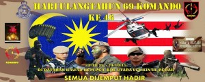 VAT 69 Open Day poster. PDRM picture
